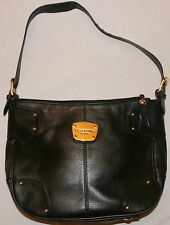 LIZ CLAIBORNE Black Leather Handbag Shoulder Bag EUC Excellent