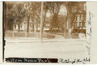 RP Custom House Park At Plattsburgh NY Real Photo Postcard RPPC New York