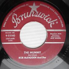 BOB McFADDEN & DOR halloween Bopper 45 THE MUMMY THE BEAT GENERATION  c2426