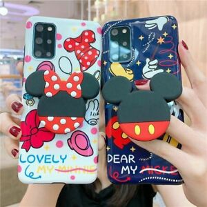 Mickey Mouse Minnie Soft Case for Samsung Galaxy S20+ Note 20U 10+ Cartoon Cover