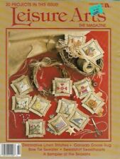 Leisure Arts the Magazine Feb 1989 Canada Goose Rug Sampler of the Seasons More