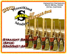 Straight Brooms (5pcs) - FinestKind Models S/Sn3/Sn2/1:64 Fk2-30
