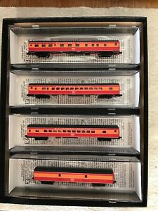 MICRO TRAINS LINES MTL Z SCALE 4 PACK SOUTHERN PACIFIC DAYLIGHT PASSENGER CARS