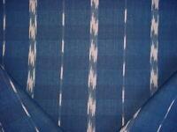 7Y Ralph Lauren LCF68805F Reyner Cotton Ikat Stripe Indigo Upholstery Fabric