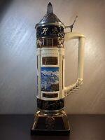 "Budweiser Lidded 22"" Stein Salt Lake City 2002 Premier Olympic Winter Games Used"