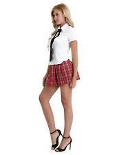 Women Sexy Lingerie Role Play School Girl Uniform Fancy Dress Costume Outfit
