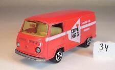 Majorette 1/60 Nr. 244 VW Volkswagen T2 Fourgon Kasten rot Cafe Hag Nr. 1 #034
