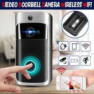 HD Door Bell WiFi wireless Video PIR Doorbell Home Talk Smart Security Camera US