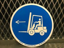 "Clarion Safety ~ Forklift Point Left ~ 3"" X 3"" Label Sticker Free Us Ship"
