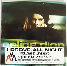 "CÉLINE DION - CD SINGLE ""I DROVE ALL NIGHT"" - NEUF SOUS BLISTER D'ORIGINE"