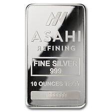 10 oz Silver Bar - Asahi (Serialized) - SKU #90498