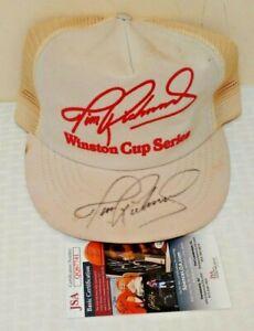 Vintage NASCAR Autographed Signed Pit Hat Snapback Cap TIM RICHMOND 1980s JSA