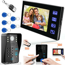 "7"" LCD RFID Password Video Door Phone Doorbell Intercom System Camera Touch Key"