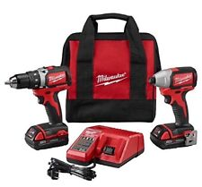 New Milwaukee M18 Compact Brushless Drill and Impact Combo Kit 2798-22CT NIB