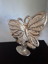 Vintage Silver Plated Butterfly Earring Tree