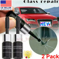 Auto Glass Nano Repair Fluid Car Windshield Resin Crack Tools Kit 2 Pack
