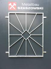 Fenstergitter Feuerverzinkt - Modell Raute-Sonne
