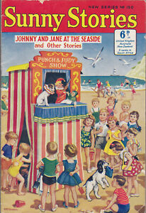 RARE VINTAGE SUNNY STORIES No. 150 Johnny And Jane At The Seaside Comic