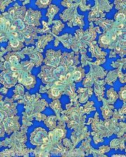 Robert Kaufman La Scala Bright Jacobean Floral Paisley, quilting fabric