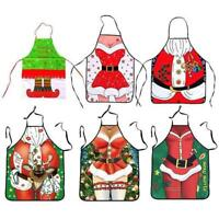 Christmas Funny Santa Claus Apron Bib For Home KitchenParty Novelty Gift LI