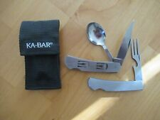 Ka-Bar Hobo Knife Fork, Spoon and Can Opener w/sheath set.
