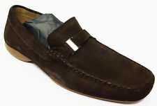 Bruno Magli Lolver Formal Slip-On Leather Loafers Shoes Dark Brown 8.5 $395 NiB