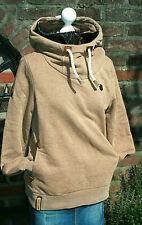 Naketano Sweatshirt Hoodie Kapuzenshirt Sweater  Leder Kapuze  L NEU NP 99,00