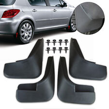 Front & Rear MUD FLAPS FLAP SPLASH GUARDS MUDGUARD Fit For PEUGEOT 307