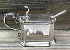 English Sterling Silver Lidded Salt Cellar w/ Liner 1936 JB Chatterley London
