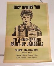 I Love Lucy LUCILLE BALL LUCITE DUPONT PAINT GUIDE Catalog Magazine - RARE!