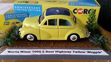 1:43 Diecast Car Corgi Yellow Morris Minor Diorama Country Scene Boxed Cased