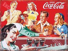 Vintage Drink, 75, Cola 50's Dinner, Cafe Kitchen Old Shop Novelty Fridge Magnet