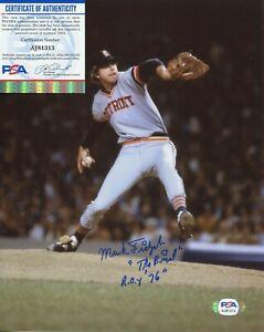 Mark Fidriych Detroit Tigers PSA/DNA signed 8x10 authenticated photo autograph