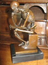 Skelett Denker aus Bronze von MILO/Top Zustand