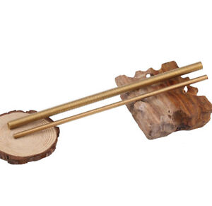 Brass Metric Allthread Threaded Rod Bar Stud M2 M3 M4 M6 M8 M10 M12 M14 Bis M20