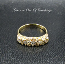 18ct Gold Five Stone Diamond Ring Size L 4g 0.4 carats