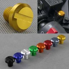 2 Gold Mirror Hole Plug Anodized Aluminum Bolts For Honda CBF500 CBF600 CBF1000