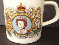 Queen Elizabeth II Silver Jubilee 1952 – 1977 Commemorative Mug Coffee Cup