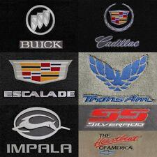 GM Vehicles 2pc Velourtex Carpet Front Row Floor Mats - Choose Color & Logo