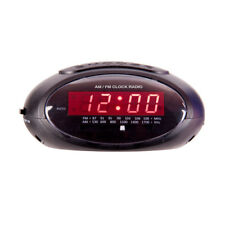 LASER DUAL ALARM CLOCK RADIO AM FM WITH POWER BACK-UP/BIG SNOOZ/DIGITAL DISPLAY/
