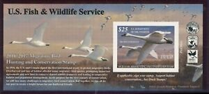 RW83A 2016 Migratory Oiseau Autocollantes Dollar Bill Taille Duck Stamp Nh Choix