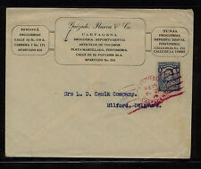 Colombia nice ad cover to Us 1929 Kl0122