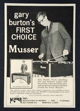 1964 Gary Burton photo Musser Vibes Vibraphone vintage print Ad