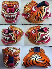 Wood Tiger/Jaguar Mask: Nepal Nepali Bhutan Bhutanese Tibet Tibetan cat animal