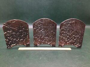 Set of Three Fantastic Brutalist Industrial Art Heavy Steel Bookends ~ Evans