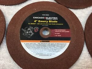 4 inch EMERY BLADES 80grit 1/8 face, 5 total