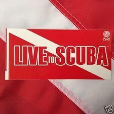 "Padi live t scuba sticker 6x3"" scuba diving equipment snorkel gear novelty fun"