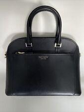 Kate Spade New York Spencer Black Medium Satchel Handbag / Crossbody Bag