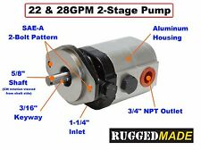22 GPM 2 Stage Log Splitter Gear Pump CBDN-16/7