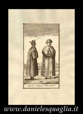 SPOSI MOSCOVITI RUSSIA SALMON INCISIONE ORIGINALE 1757